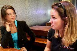 Journalist Chiara Rainis and Delphine Biscayne, Team Venturi