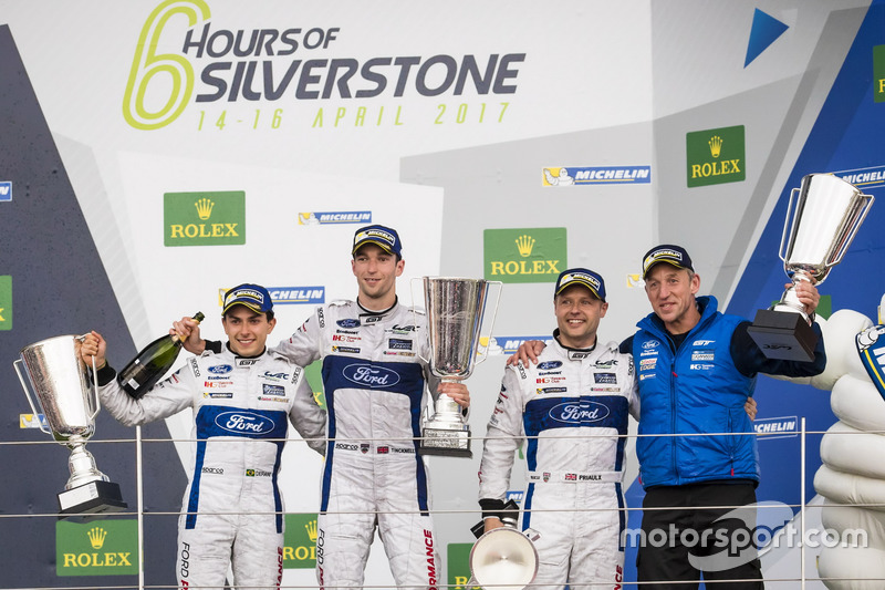 Podium GTE-Pro: Race winner #67 Ford Chip Ganassi Racing Ford GT: Andy Priaulx, Harry Tincknell, Pip