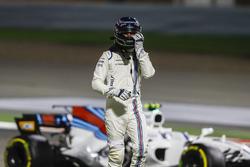Lance Stroll, Williams, s'en va après l'accrochage avec Carlos Sainz Jr., Scuderia Toro Rosso