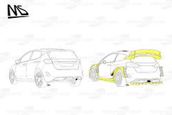 Comparaison entre la Ford Fiesta WRC et la WRC 2017