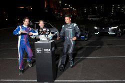 Antonio Felix da Costa, Amlin Andretti Formula E Team, con Sam Bird, DS Virgin Racing y Mitch Evans,