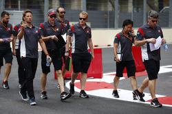 Ознакомление с трассой: Ромен Грожан, Haas F1 Team