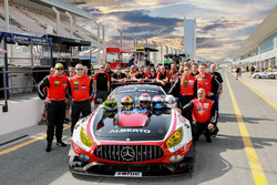 Team photo #1 Hofor-Racing Mercedes AMG GT3: Michael Kroll, Chantal Kroll, Roland Eggimann, Kenneth