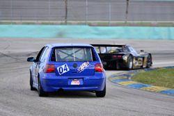 #04 MP3B Volkswagen GTI driven by Camilo Rico of Scuderia Shell Burbank, #230 FP1 Corvette Daytona P