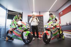 Luca Marini, Forward Racing and Lorenzo Baldassarri, Forward Racingwith the new livery