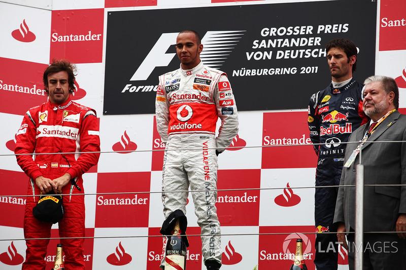 70- Fernando Alonso, 2º en el GP de Alemania 2011 con Ferrari