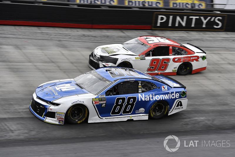 Alex Bowman, Hendrick Motorsports, Chevrolet Camaro Nationwide and D J Kennington, Gaunt Brothers Racing, Toyota Camry, Gaunt Brothers Racing