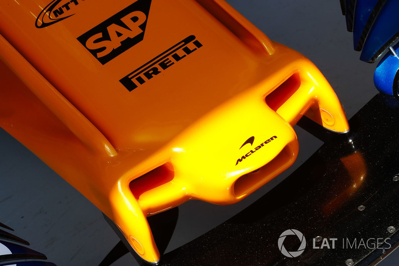 The nose of the McLaren MCL33