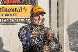 #54 JDC-Miller MotorSports, Audi RS3 LMS TCR, TCR: Michael Johnson, Stephen Simpson, podio, champagne