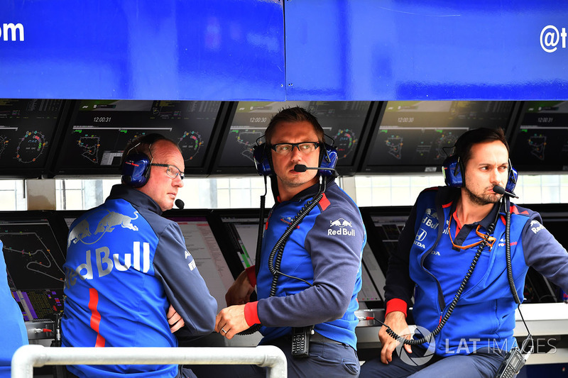 El muro de la Scuderia Toro Rosso