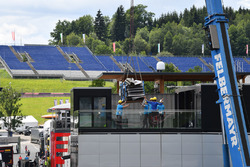 Construction in the Red Bull Ring paddock