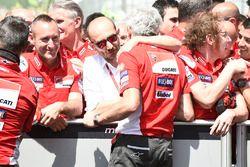 Domenicali, Gigi Dall'Igna, manager deDucati Team lors du Grand Prix d'Italie Italian MotoGP 2018