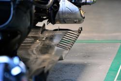L'arrière du fond plat de la Mercedes-AMG F1 W09