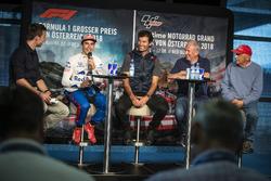 Marc Marquez, Mark Webber, Dr. Helmut Marko and Niki Lauda