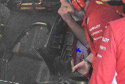 Détails du plancher de la Ferrari SF71H