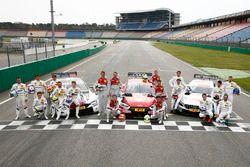Gruppenfoto: Fahrer der DTM-Saison 2018