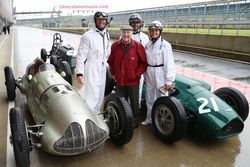 Mark Webber, Murray Walker, Karun Chandhok en Susie Wolff