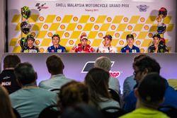 Conférence de presse : Franco Morbidelli, Marc VDS, Valentino Rossi, Yamah Factory Racing, Andrea Dovizioso, Ducati Team, Marc Marquez, Repsol Honda Team, Maverick Viñales, Yamaha Factory Racing, Johann Zarco, Monster Yamaha Tech 3