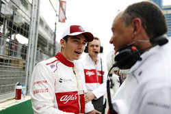 Charles Leclerc, Sauber, on the grid