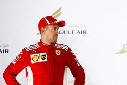 Sebastian Vettel, Ferrari, vainqueur, sur le podium