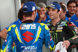 Le troisième, Alex Rins, Team Suzuki MotoGP, le deuxième, Johann Zarco, Monster Yamaha Tech 3