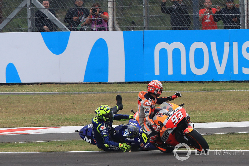 L'incidente tra Marc Marquez, Repsol Honda Team, e Valentino Rossi, Yamaha Factory Racing