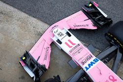 The new Sahara Force India VJM11 nose and front wing