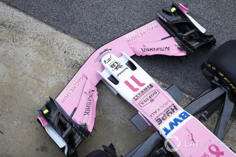 Nez et aileron avant de la Sahara Force India VJM11