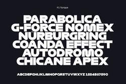 F1 Torque typeface