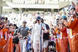 Felipe Massa, Williams, Fernando Alonso, McLaren, nella drivers parade