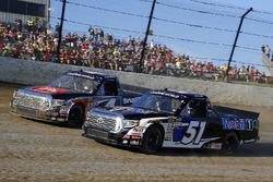 Logan Seavey, Kyle Busch Motorsports, Toyota Tundra Mobil 1 and Todd Gilliland, Kyle Busch Motorsports, Toyota Tundra JBL/SiriusXM