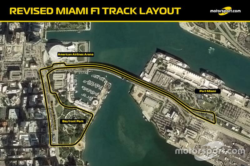 Обновленная схема трассы Ф1 в Майами