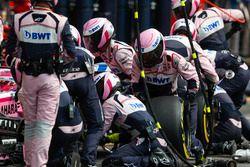 Esteban Ocon, Force India VJM11, sur la grille