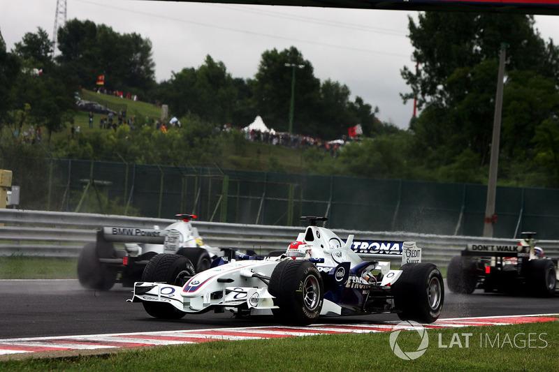 Robert Kubica, BMW Sauber F1.06, in testacoda
