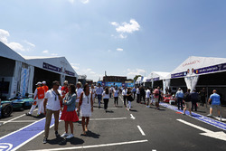 Fans enjoy the paddock atmosphere