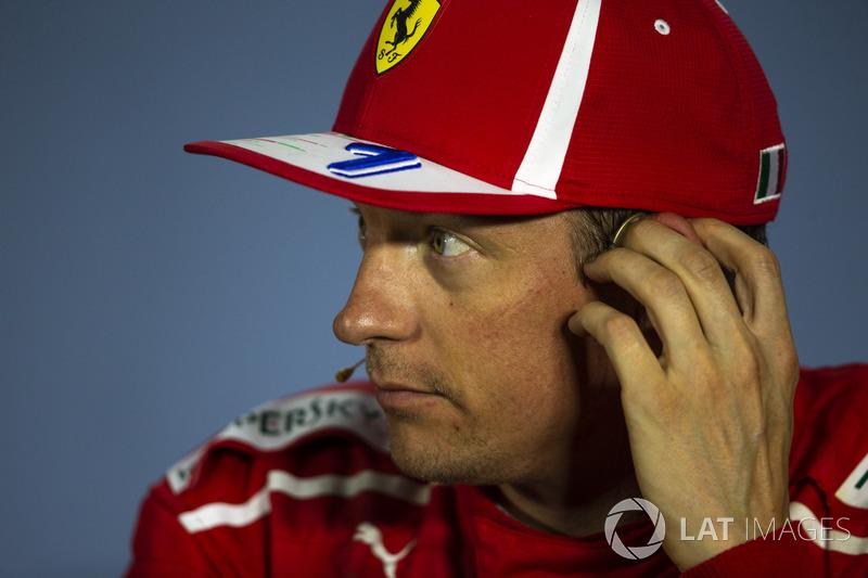 Kimi Raikkonen, Ferrari in Press Conference