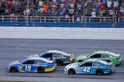 Daniel Suarez, Joe Gibbs Racing Toyota, Kyle Larson, Chip Ganassi Racing Chevrolet, Chase Elliott, H