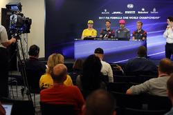 Nico Hulkenberg, Renault Sport F1 Team, Romain Grosjean, Haas F1, Fernando Alonso, McLaren y Kevin Magnussen, Haas F1 en conferencia de prensa