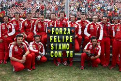 A message to Felipe Massa from the Ferrari team