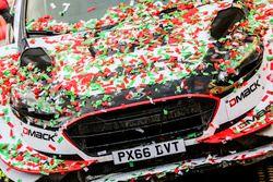 La voiture des vainqueurs Elfyn Evans, Daniel Barritt, Ford Fiesta WRC, M-Sport