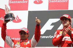 Podium: first place Fernando Alonso, Ferrari, second place Felipe Massa