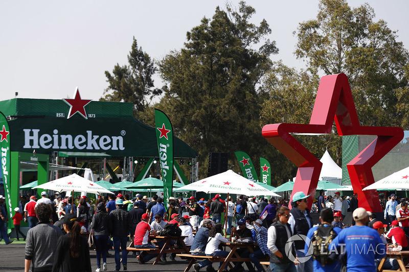 The Heineken beer garden
