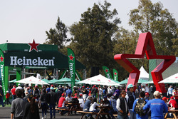 The Heineken beer garden