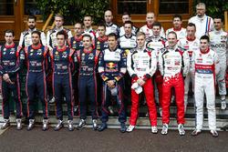 صورة جماعية لسائقي بطولة العالم للراليات 2018
