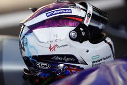 The helmet of Sam Bird, DS Virgin Racing