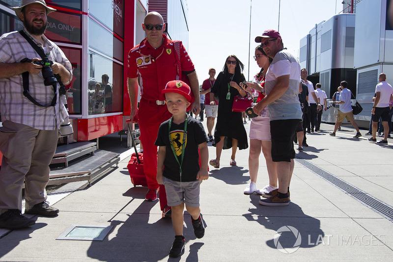 Robin Raikkonen, son of Kimi Raikkonen, Ferrari and trainer Mark Arnall