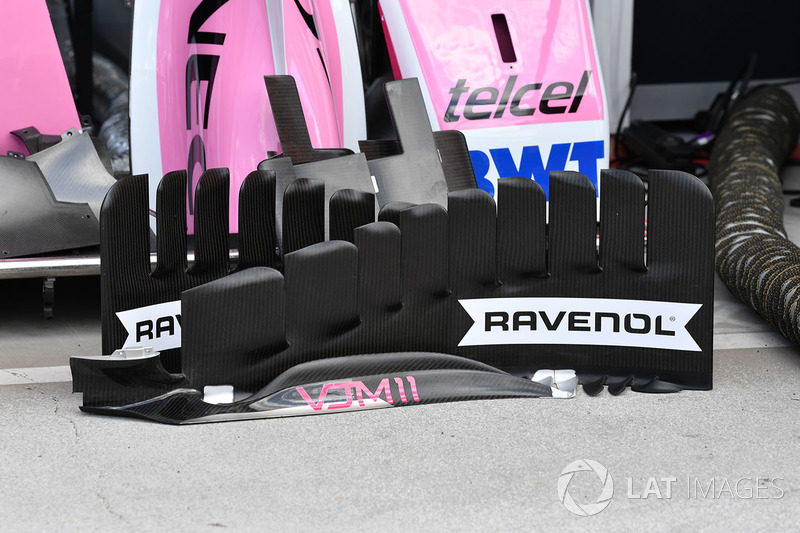 Force India VJM11 detalle de la barcaza