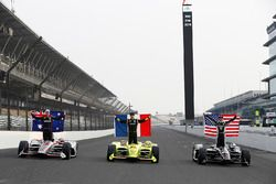 Will Power, Team Penske Chevrolet, Simon Pagenaud, Team Penske Chevrolet, Ed Carpenter, Ed Carpenter Racing Chevrolet