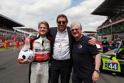 Pierre Nicolet, Gérard Neveu, directeur général du FIA WEC, Jacques Nicolet