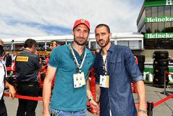 Los futbolistas defensas italianos Giorgio Chiellini y Leonardo Bonucci